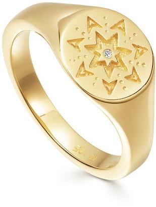 Missoma Gold Star Struck Signet Ring