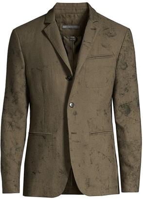 John Varvatos Collection Textured Wool Sport Jacket