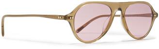 Oliver Peoples Aviator-style Acetate Sunglasses
