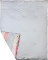 37'' x 46'' Lavender Fields Stripe Organic Stroller Blanket