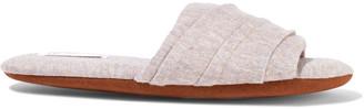 Skin Berkley Gathered Cotton-blend Jersey Slippers