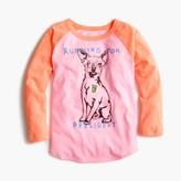 "J.Crew Girls' chihuahua ""running for president"" baseball T-shirt"