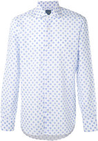 Barba floral embroidered shirt - men - Cotton/Linen/Flax - 39