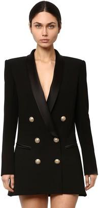 Balmain Double Breasted Viscose Dress Jacket