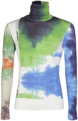 Ambush Turtleneck Tie-Dye Long-Sleeve Top
