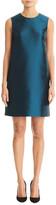 Carolina Herrera Silk Taffeta Sleeveless Shift Dress