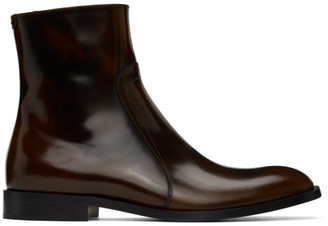 Maison Margiela Brown Zip Boots