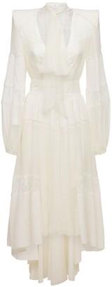 ZUHAIR MURAD Lace & Tulle Midi Dress