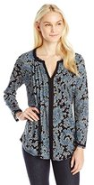 Lucky Brand Women's Paisley Peasant Top