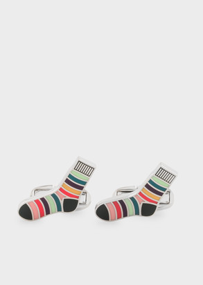 Paul Smith Men's 'Striped Socks' Cufflinks