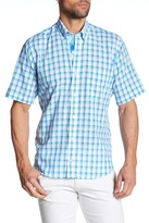 Tailorbyrd Short Sleeve Plaid Trim Fit Woven Shirt (Big & Tall Available)