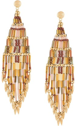 Gas Bijoux Ulla fringed bead earrings