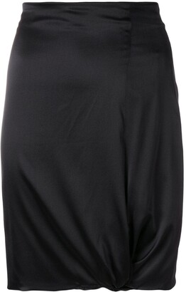 Giorgio Armani Pre-Owned Gathered Detail Fitted Skirt