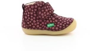 Kickers Infants Sabio Soft Leather Bootees with Touch 'n' Close Fastening