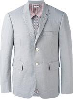Thom Browne Seersucker blazer - men - Cotton/Cupro - 2