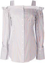 Dondup striped off shoulder shirt