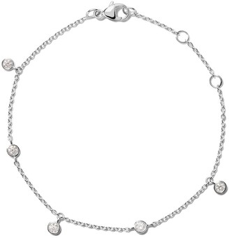 De Beers 18kt white gold My First five diamond bracelet