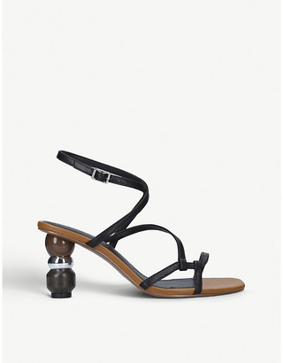 Who What Wear Ryleigh metallic faux-leather sandals