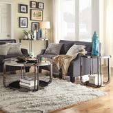 Dupont HomeSullivan Glass and Chrome End Table in Black