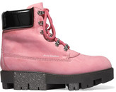 Acne Studios Teide Nubuck Ankle Boots - Pink