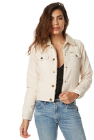 Rollas Sherpa Womens Vanilla Denim Jacket Natural
