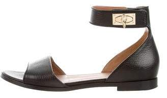 Givenchy Leather Shark Lock Sandals