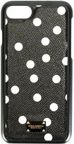 Dolce & Gabbana polka dot iPhone 7 case - women - Calf Leather/Plastic - One Size