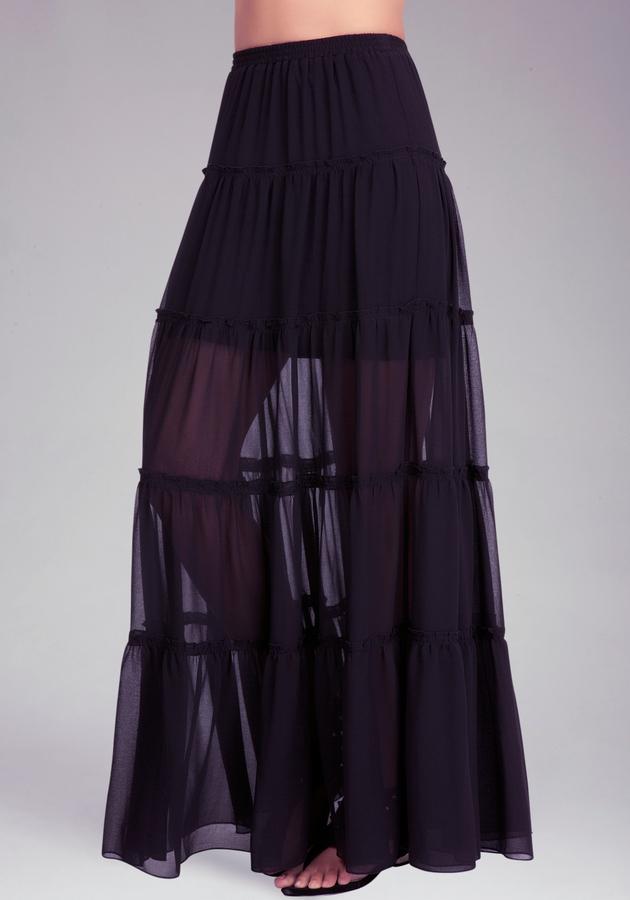 Bebe Tiered Maxi Skirt