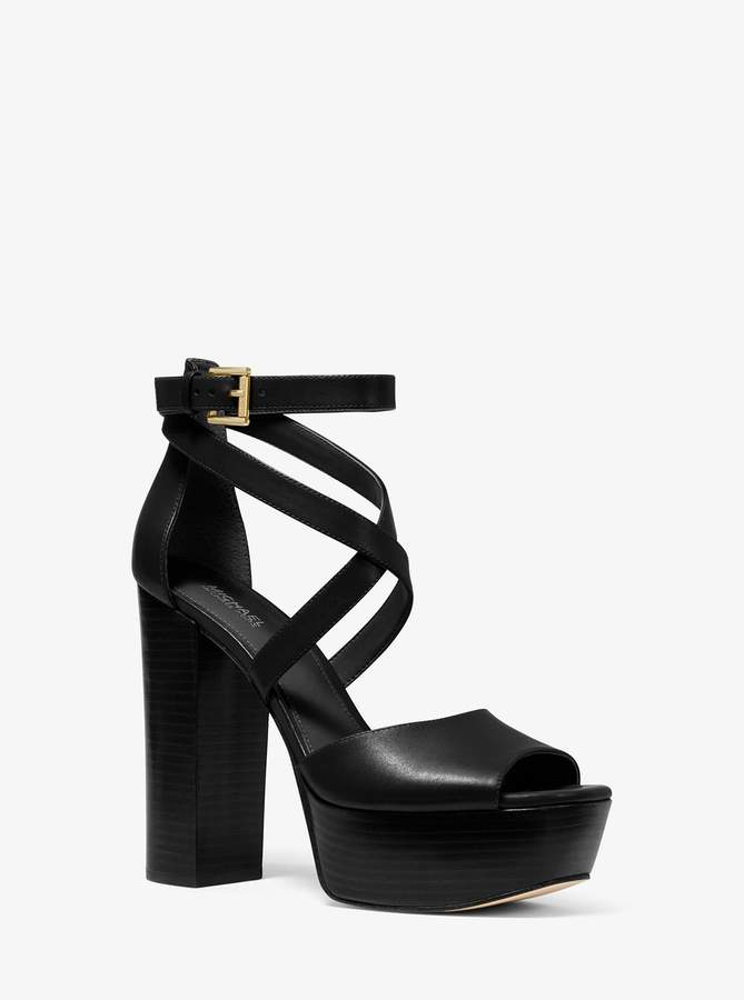 MICHAEL Michael Kors Burke Leather Platform Sandal