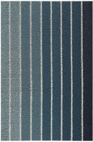 Chilewich Block Stripe Shag Rug - Denim - 46x71cm