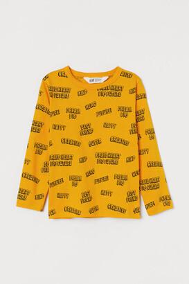 H&M Printed Jersey Shirt - Yellow