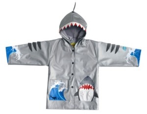 Kidorable Little and Big Boy with Comfy Shark Rain Coats