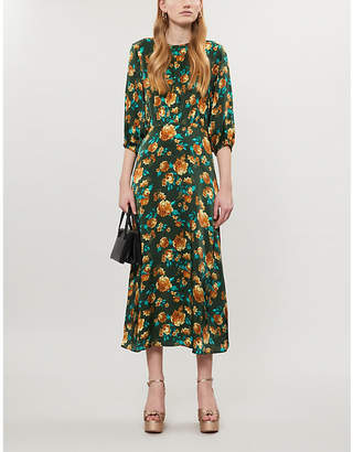 Ghost Scarlett floral-print crepe midi dress