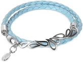 Sho London Mari Friendship - Sterling Silver & Leather Double Bracelet