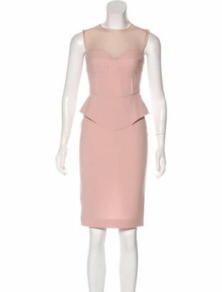 Emilio Pucci Sleeveless Peplum Dress Pink