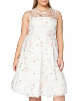Thumbnail for your product : Gina Bacconi Women's Hestia Organza Rose Print Dress Cocktail