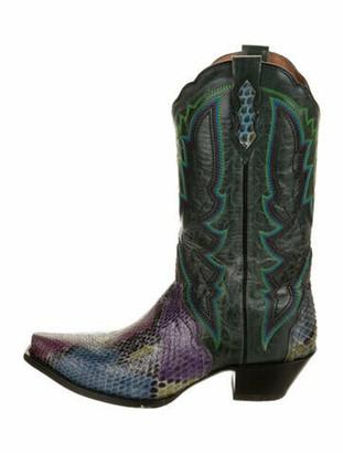 Dan Post Snakeskin Western Boots Purple