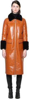 Stand KRISTEN PAPERY FAUX PATENT LEATHER COAT