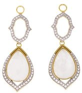 Jude Frances Open Moroccan Double Drop Pear Stone Earring Enhancers