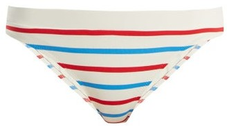 Solid & Striped The Madison Bikini Briefs - White Stripe
