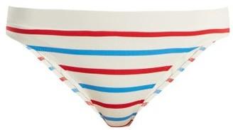 Solid & Striped The Madison Bikini Briefs - Womens - White Stripe