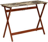 Linon Faux-Marble Folding Buffet Tray Table