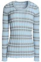 Sonia Rykiel Striped Ribbed Cotton Sweater