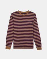 Stussy Classic Stripe Long Sleeve Jersey (Brown | Purple)