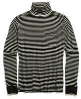 Todd Snyder Cashmere Stripe Turtleneck in Black