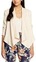 Molly Bracken Women's Long Sleeve Blazer - Off-White -