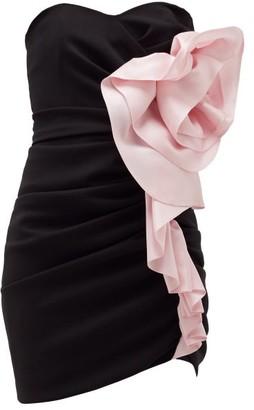 Alexandre Vauthier Strapless Ruffled Crepe Mini Dress - Black