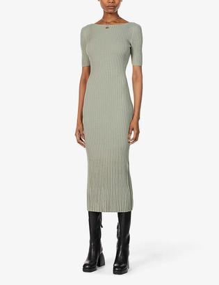 Bec & Bridge White Water short-sleeved knitted midi dress