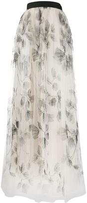 Brunello Cucinelli Full Embroidered Tulle Skirt