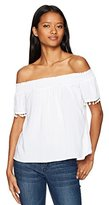 Love love, FiRE Women's Smocked Off the Shoulder Top